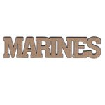 Leaky Shed Studio - Chipboard Words - Marines