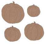 Leaky Shed Studio - Chipboard Shapes - Four Pumpkins