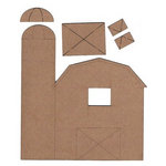 Leaky Shed Studio - Chipboard Shapes - Barn