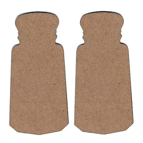 Leaky Shed Studio - Chipboard Shapes - Salt and Pepper Shakers