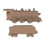 Leaky Shed Studio - Chipboard Shapes - Steam Train