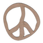Leaky Shed Studio - Chipboard Shapes - Peace Sign 60's