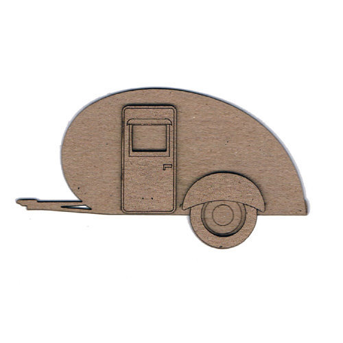 Leaky Shed Studio - Chipboard Shapes - Airstream Camper Trailer