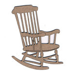 Leaky Shed Studio - Chipboard Shapes - Rocking Chair