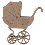 Leaky Shed Studio - Chipboard Shapes - Baby Carriage