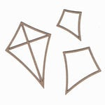 Leaky Shed Studio - Chipboard Shapes - Summer Kites