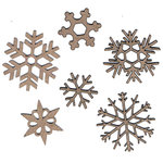 Leaky Shed Studio - Chipboard Shapes - Six Snowflakes