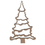 Leaky Shed Studio - Chipboard Shapes - Merry Christmas Tree - Large