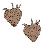 Leaky Shed Studio - Chipboard Shapes - Strawberries