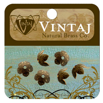 Vintaj Metal Brass Company - Metal Jewelry Hardware - Bead Caps - Foliage