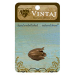 Vintaj Metal Brass Company - Metal Jewelry Hardware - Bead Caps - Flourish Petal