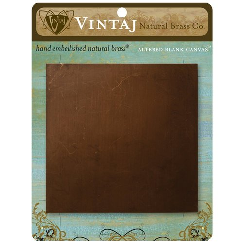 Vintaj Metal Brass Company - Metal Altered Blank Canvas - 4 x 4
