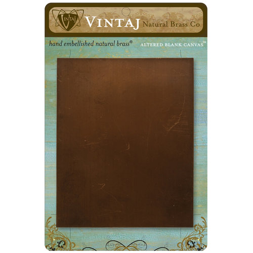 Vintaj Metal Brass Company - Metal Altered Blank Canvas - 4 x 5