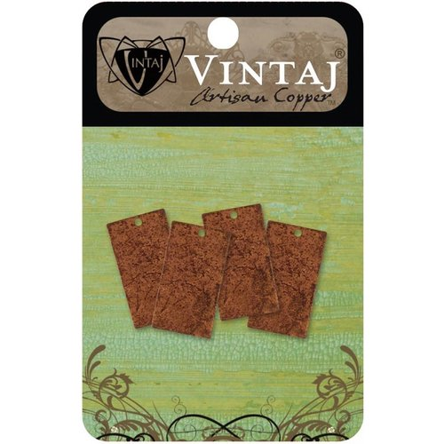 Vintaj Metal Brass Company - Artisan Copper - Metal Altered Blanks - Small - Rectangle