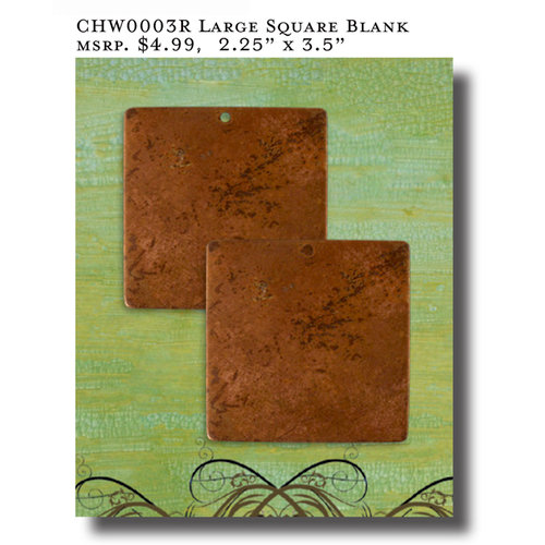 Vintaj Metal Brass Company - Artisan Copper - Metal Altered Blanks - Large - Square
