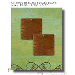 Vintaj Metal Brass Company - Artisan Copper - Metal Altered Blanks - Small - Square