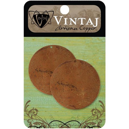 Vintaj Metal Brass Company - Artisan Copper - Metal Altered Blanks - Large - Circle