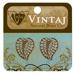 Vintaj Metal Brass Company - Metal Jewelry Charms - Filigree Leaf