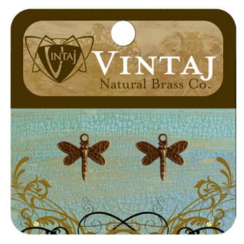 Vintaj Metal Brass Company - Metal Jewelry Charms - Princess Dragonfly