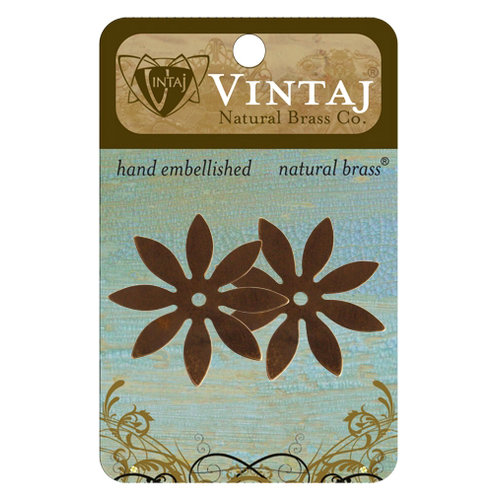 Vintaj Metal Brass Company - Sizzix - Metal Embellishments - Eight Petal Cut Out