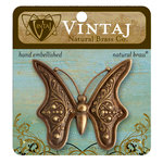 Vintaj Metal Brass Company - Metal Embellishments - Baroque Butterfly