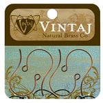 Vintaj Metal Brass Company - Metal Jewelry Hardware - Round Loop Ear Wires