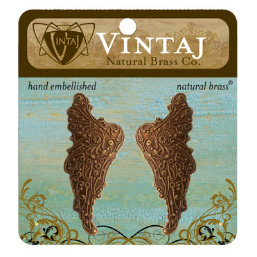 Vintaj Metal Brass Company - Metal Embellishments - Mythical Wings