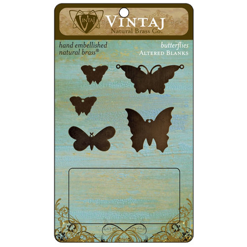 Vintaj Metal Brass Company - Metal Altered Blanks - Butterflies