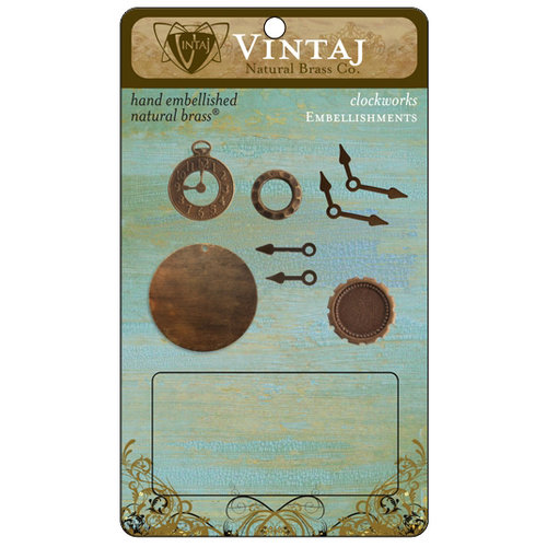 Vintaj Metal Brass Company - Metal Embellishments - Clockworks