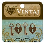 Vintaj Metal Brass Company - Metal Jewelry Charms - Hearts and Keys
