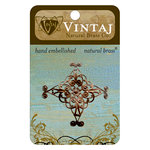 Vintaj Metal Brass Company - Metal Embellishments - Diamond Swirl Filigree