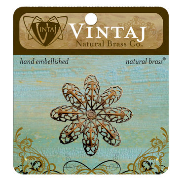 Vintaj Metal Brass Company - Metal Embellishments - Passion Flower Petal Filigree