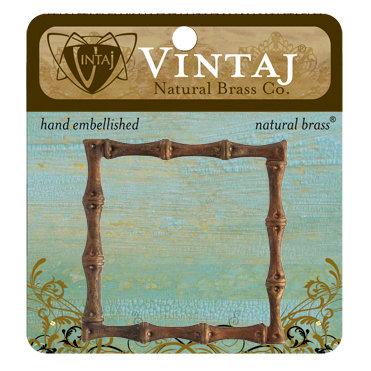 Vintaj Metal Brass Company - Metal Embellishments - Bamboo Frame
