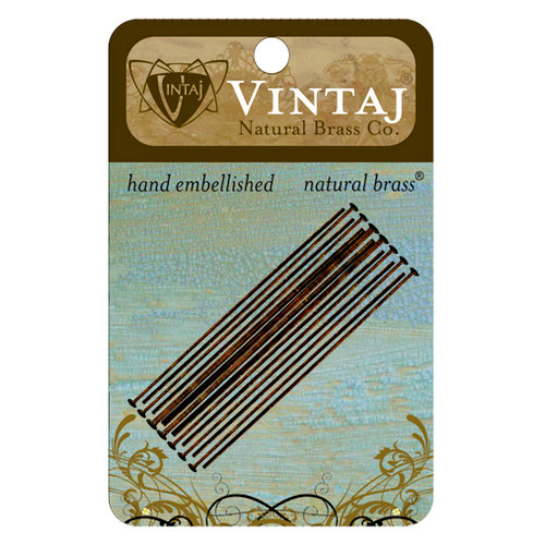 Vintaj Metal Brass Company - Metal Jewelry Hardware - Head Pin - Long