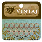 Vintaj Metal Brass Company - Metal Jewelry Hardware - Jump Rings - Medium