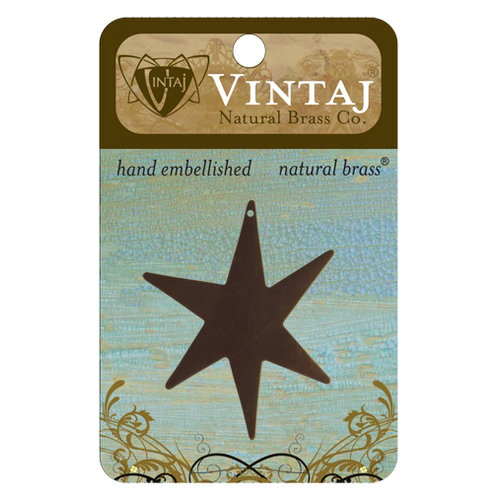 Vintaj Metal Brass Company - Sizzix - Metal Jewelry Charm - Large North Star