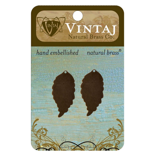 Vintaj Metal Brass Company - Sizzix - Metal Jewelry Charms - Ambrosial Leaf