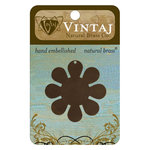 Vintaj Metal Brass Company - Sizzix - Metal Jewelry Charm - Mod Flower
