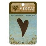 Vintaj Metal Brass Company - Sizzix - Metal Jewelry Charm - Artisan Heart