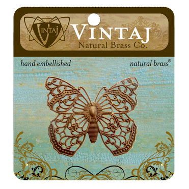 Vintaj Metal Brass Company - Metal Embellishments - Filigree Butterfly