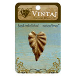 Vintaj Metal Brass Company - Metal Jewelry Charm - Woodland Leaf