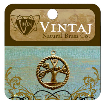 Vintaj Metal Brass Company - Metal Jewelry Charm - Tree of Life