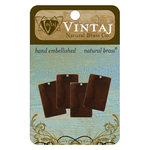 Vintaj Metal Brass Company - Sizzix - Metal Altered Blanks - Small Rectangle