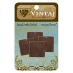 Vintaj Metal Brass Company - Sizzix - Metal Altered Blanks - Small Square