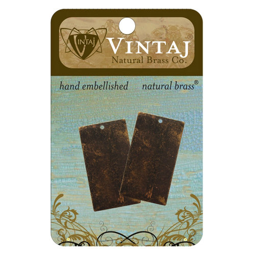 Vintaj Metal Brass Company - Sizzix - Metal Altered Blanks - Rectangle