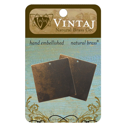 Vintaj Metal Brass Company - Sizzix - Metal Altered Blanks - Square