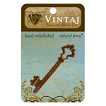 Vintaj Metal Brass Company - Metal Embellishments - Gate Key