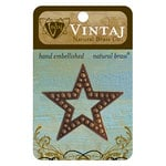 Vintaj Metal Brass Company - Metal Embellishments - Beaded Star