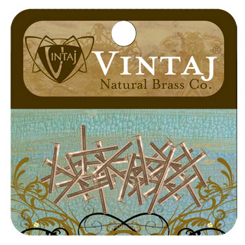 Vintaj Metal Brass Company - Metal Jewelry Hardware - Nail Head Rivets - Large