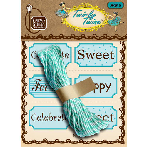 Vintage Street Market - Craft Pantry Staples - Twirly Twine - Aqua